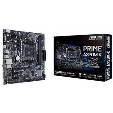 ASUS Prime A320M-K AM4 uATX Motherboard With LED lighting DDR4 32Gb/s M.2 HDMI SATA 6Gb/s