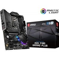 MSI MPG Z490 GAMING PLUS MOTHERBOARD MAX 128GB DDR4 4800MHZ MEMORY